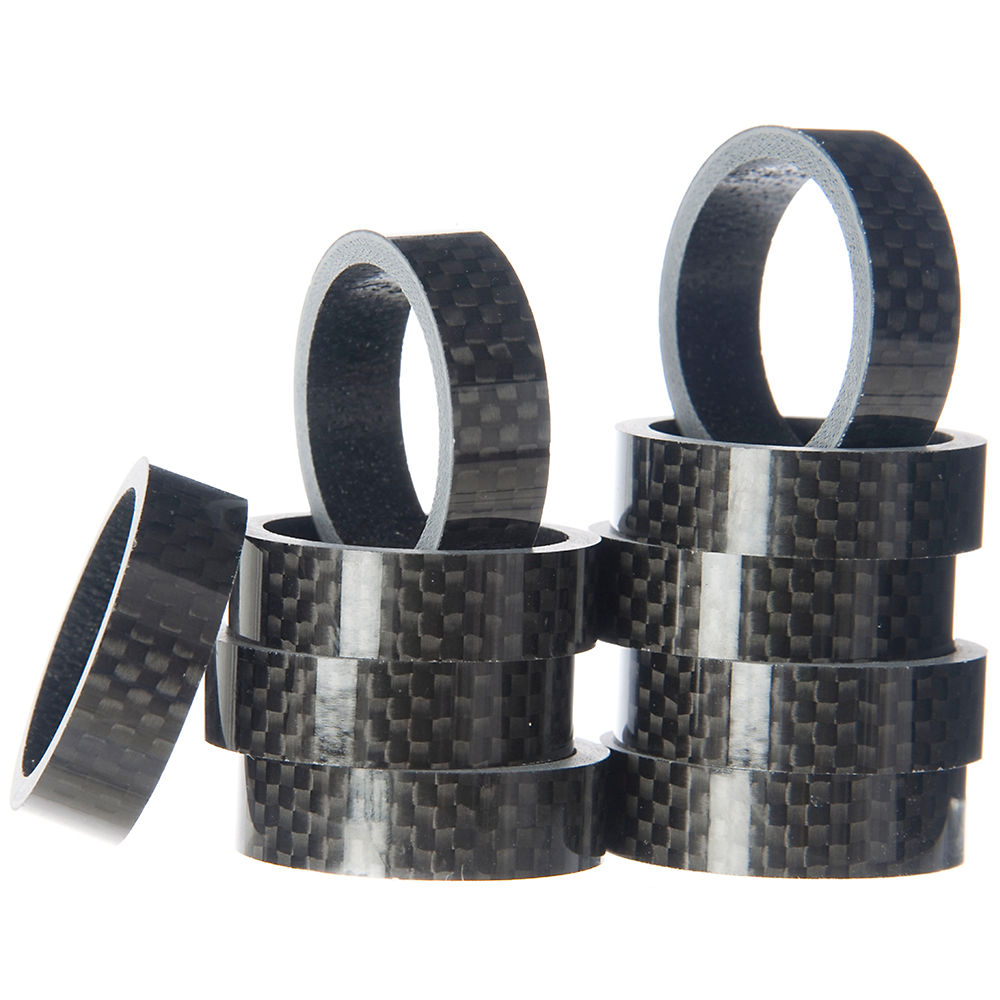 Token Carbon Headset Spacer - Black - 10x10mm  Black
