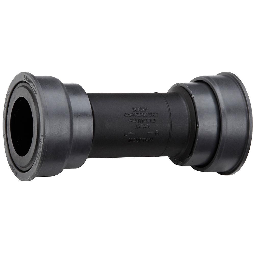 Shimano Bb71 Mtb Press Fit Bottom Bracket - Black - 89.5/92mm - Bb71 Pf41 - 24mm Spindle  Black