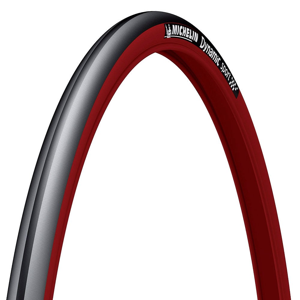 Image of Pneu Route Michelin Dynamic Sport - Noir - Rouge - Wire Bead