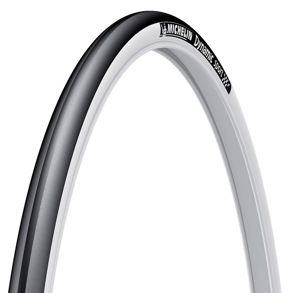 Image of Pneu Route Michelin Dynamic Sport - Noir - Blanc - Wire Bead