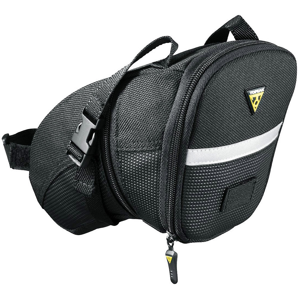 Bolsa de sillín con correa Topeak Aero Wedge - Negro - XS, Negro
