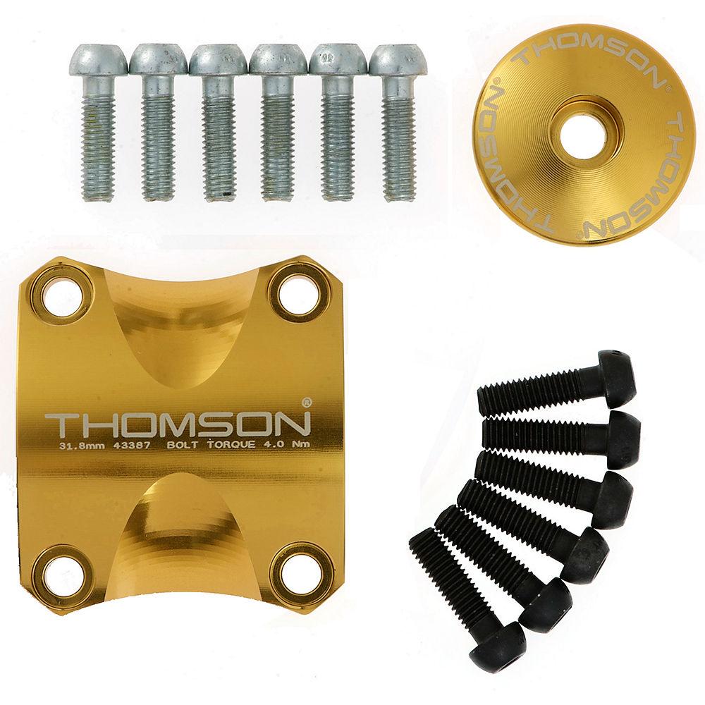"""Image of Kit de Potence VTT Thomson X4 - kit de mise à jour de fixation, capuchon et vis - Or - 1.1/8"""""""