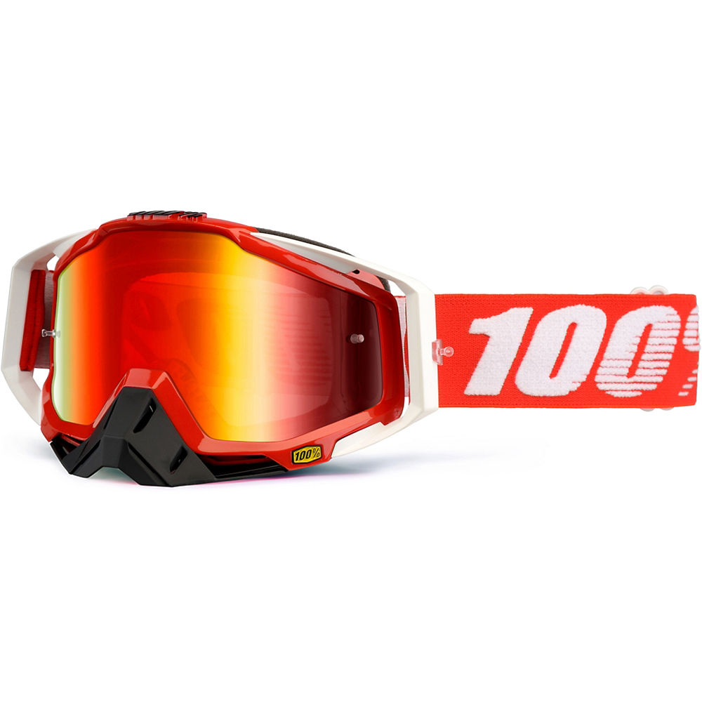 100% Racecraft Goggle - Mirror - Fire Red - Mirror Red Lens  Fire Red - Mirror Red Lens