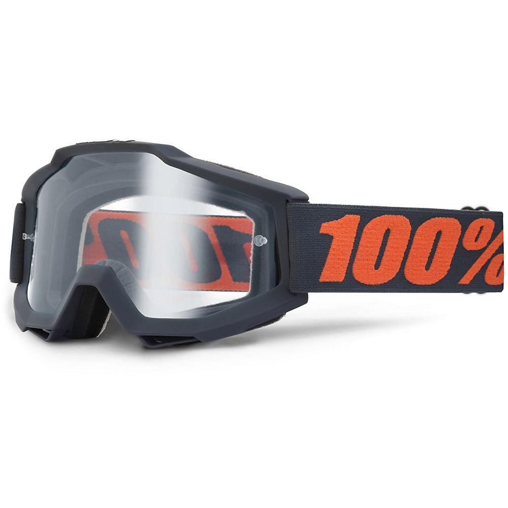 100% Accuri Goggles - Enduro Dual - Gunmetal - Clear Dual Lens, Gunmetal - Clear Dual Lens