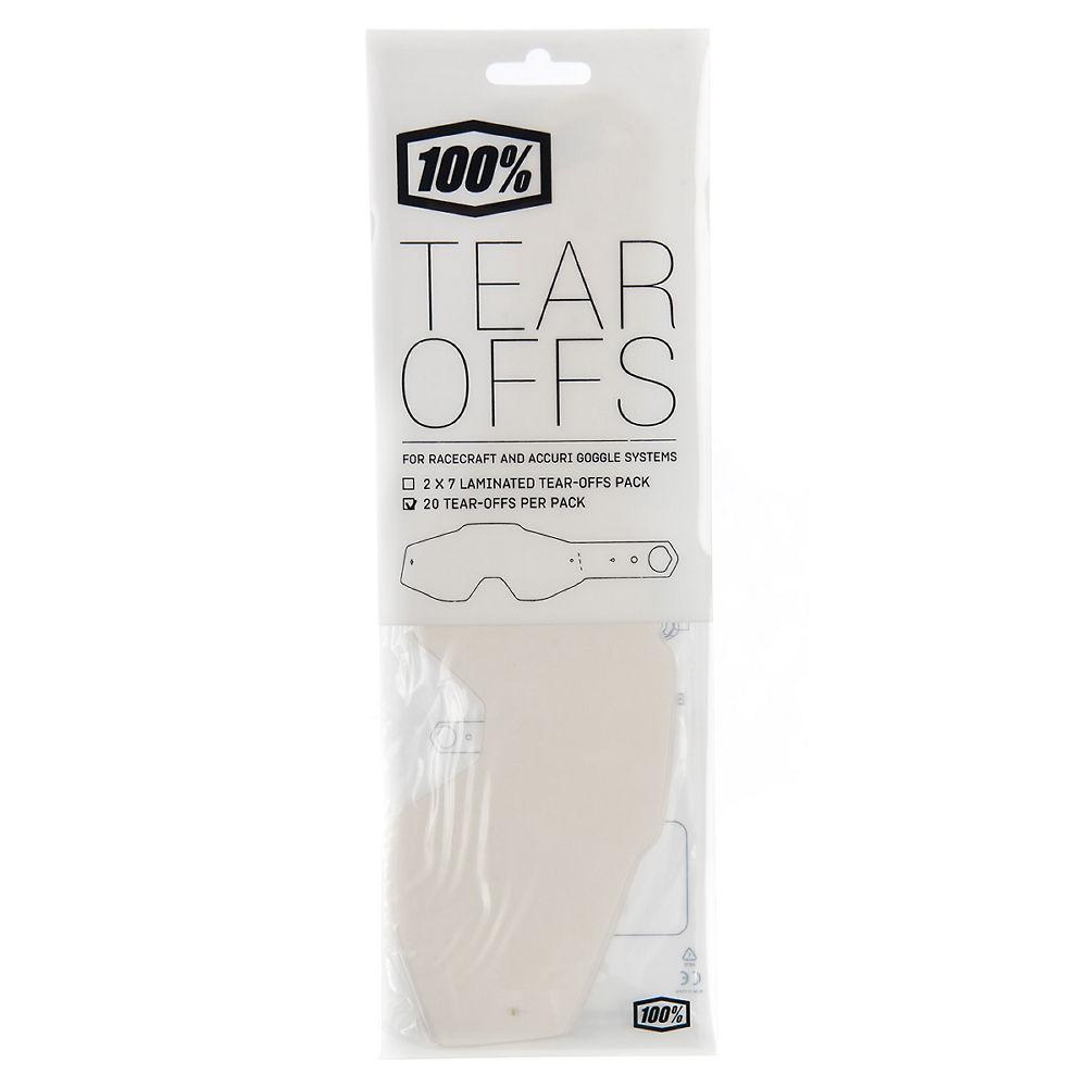 100% Standard Tear Offs - Clear - 50 Pack, Clear