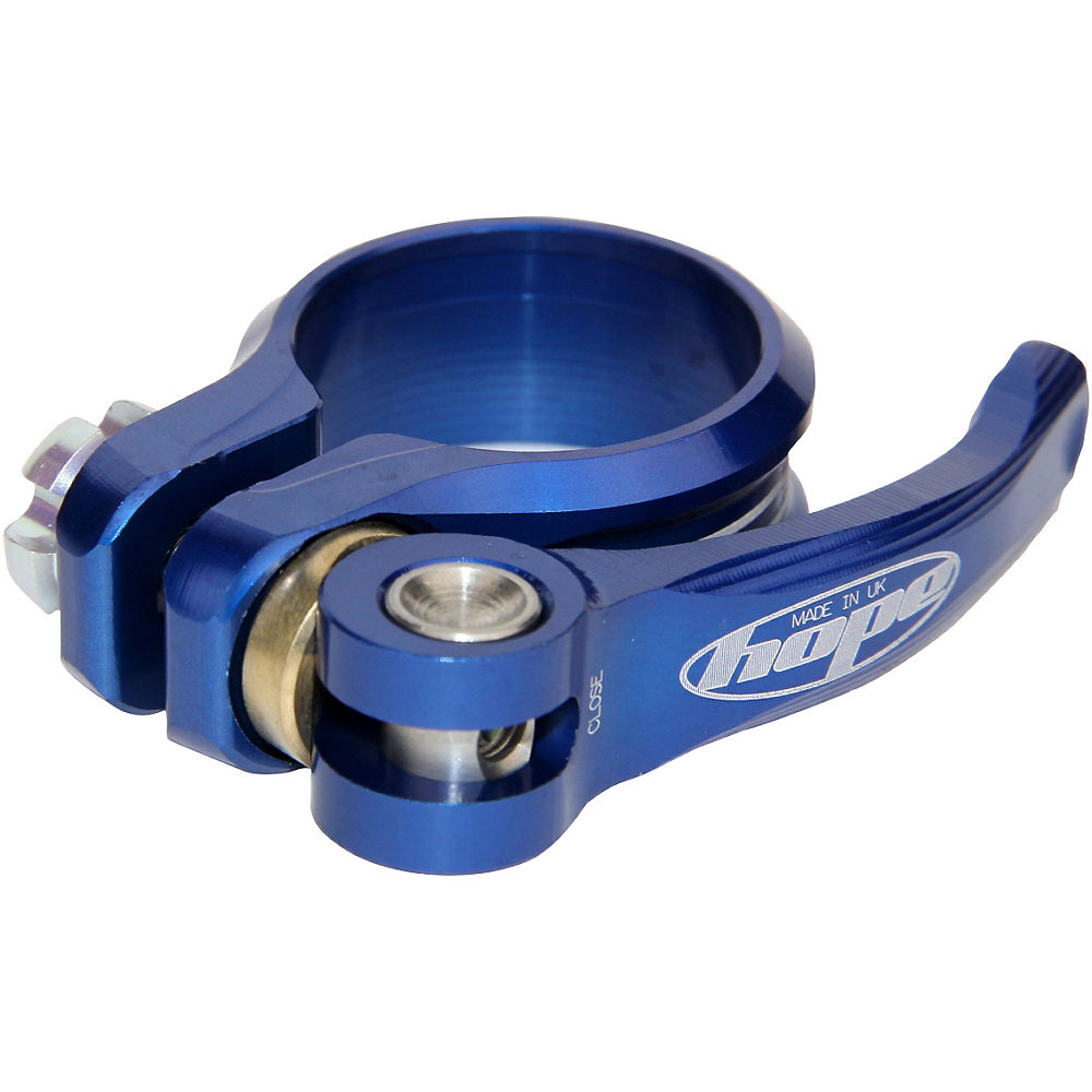 Hope Seat Clamp (QR) - Blue - 34.9mm, Blue
