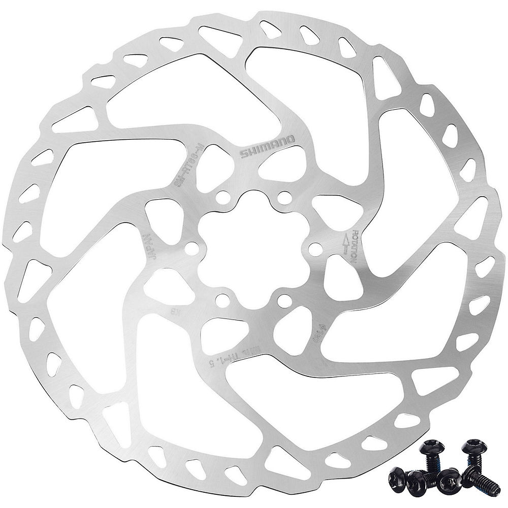Shimano RT66 Disc Rotor (6 Bolt) - Silver - 180mm, Silver