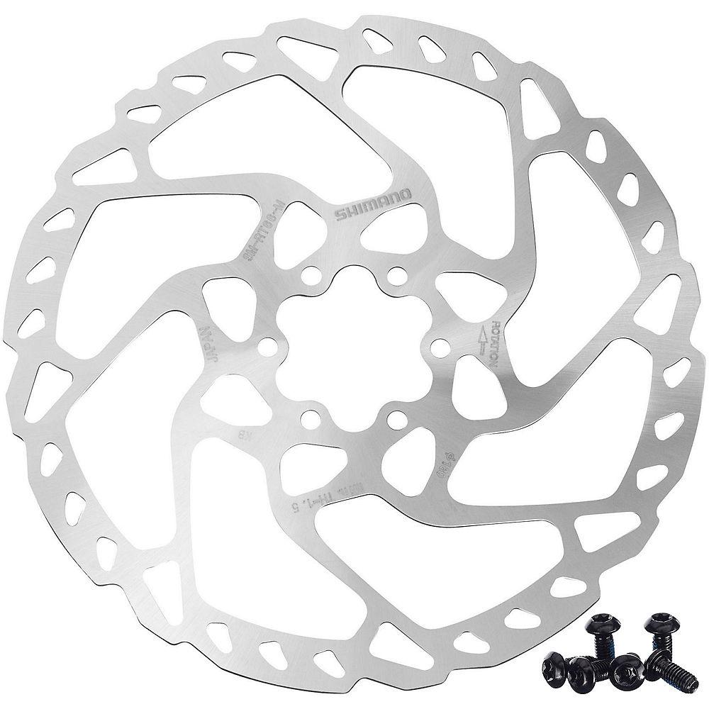 Shimano Rt66 Disc Brake Rotor (6 Bolt) - Silver - 160mm  Silver