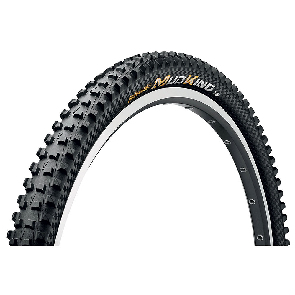Continental Mud King Xc Mtb Tyre - Protection - Black - Folding Bead  Black