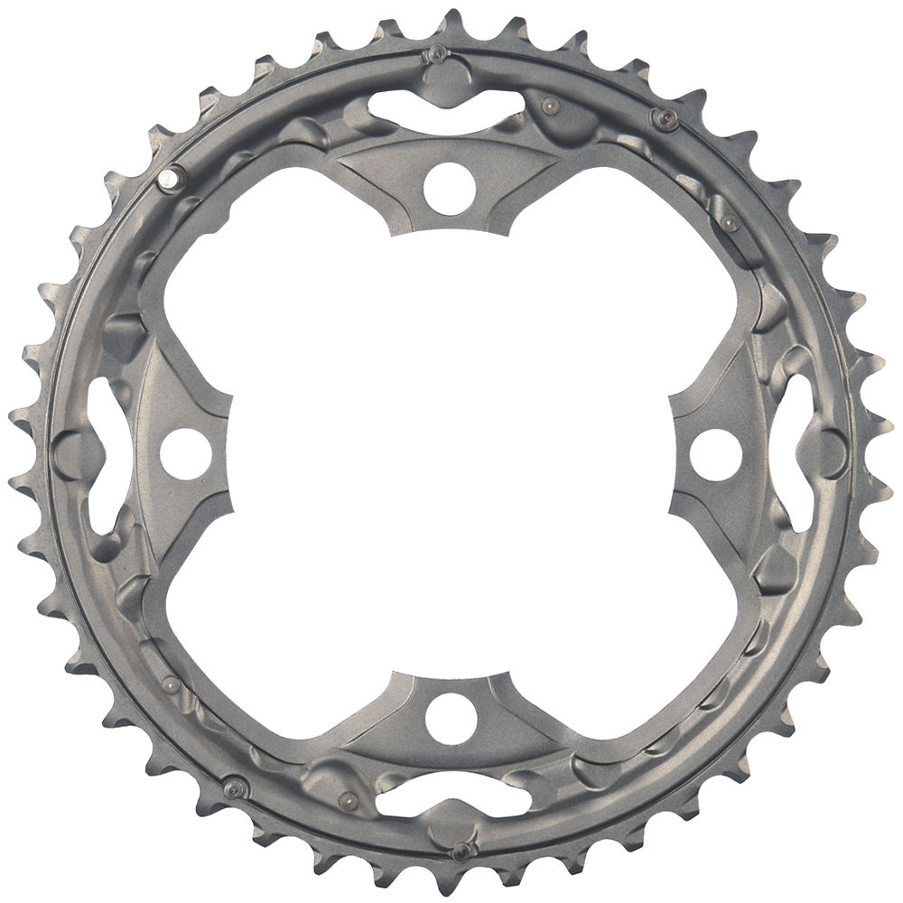 Shimano Deore FCM590 9 Speed Triple Chainrings - Grey - 4-Bolt, Grey