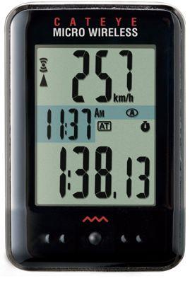 Cuentakilómetros inalámbrico Cateye Micro 9 funciones