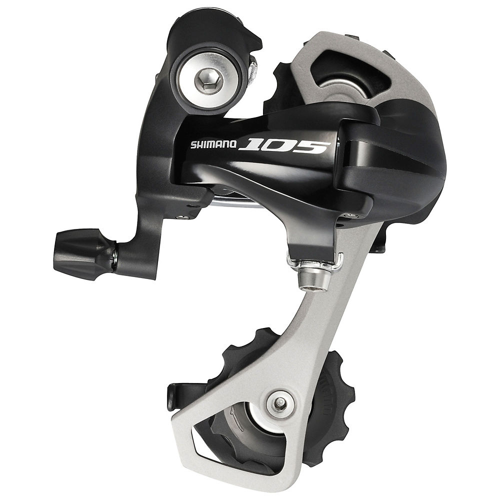 Shimano 105 5701 10sp Rear Derailleur - Black - Medium Cage, Black
