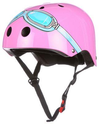 Casco rosa con gafas Kiddimoto