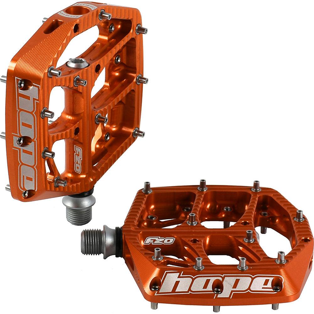 Hope F20 Flat Pedals – Orange, Orange