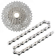 Shimano XT M771 10sp Cassette + Chain Bundle