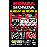100 Geico Honda Sticker Sheet