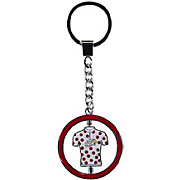 Tour de France Metal Keyring Polka Dot Jersey 2018