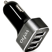 Veho Triple USB 5V 5.1A Car Charger 2017