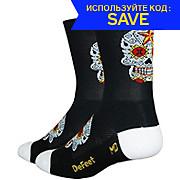 Defeet Aireator Tall Sugarskull Socks