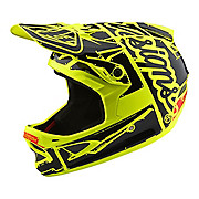Troy Lee Designs D3 Fiberlite Helmet - Factory Flo Yellow 2018