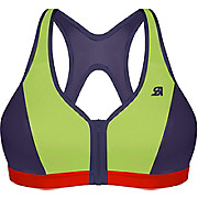 Shock Absorber Active Zipped Plunge Sports Bra Lime