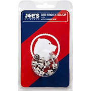 Joes No Flats Valve Key and Cap - 10 Pack