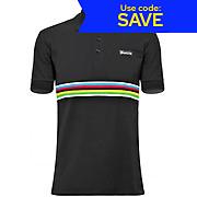 Santini UCI Short Sleeve Cotton Polo Shirt 2016 AW17