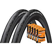Continental Grand Prix 4000S II 23c Tyres + 5 Tubes
