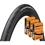 Continental Grand Prix 4000S II 23c Tyre + 3 Tubes