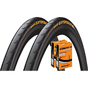 Continental Gatorskin 25c Road Tyres + 2 Tubes
