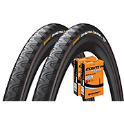 Continental Grand Prix 4 Season 25c Tyres + 2 Tubes