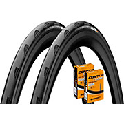 Continental Grand Prix 5000 25c Tyres + Tubes Pair