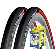 Michelin Lithion 2 Red 23c Tyres + Tubes