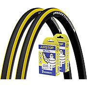 Michelin Pro4 Endurance Yellow 23c Tyres + Tubes