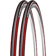 Michelin Pro 3 Race Tyres Red-Grey 23c - Pair