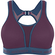 Shock Absorber Ultimate Run Bra - Padded Cranberry-Blue AW19