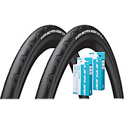 Continental 2 Grand Prix 4000S II 28c Tyres + Tubes