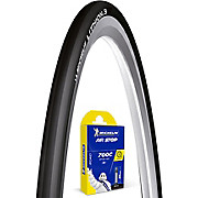 Michelin Lithion 3 Black 23c Tyre + Tube