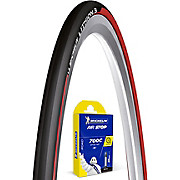 Michelin Lithion 3 Red 23c Road Tyre and Tube