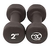 Fitness-Mad Black Neoprene Dumbells Pair 2kg