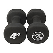 Fitness-Mad Black Neoprene Dumbbells Pair 4kg