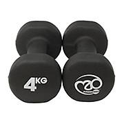 Fitness-Mad Black Neoprene Dumbbells Pair 4kg