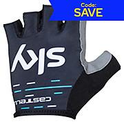 Castelli Team Sky 2017 Kids Fan Gloves SS17