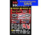 100 Geico Honda Sticker Sheet